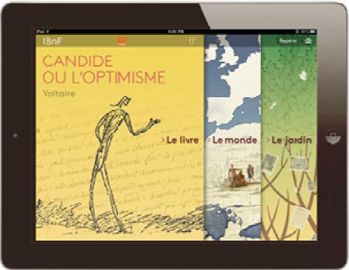 Candide de Voltaire, la première oeuvre d'une collection numérique
