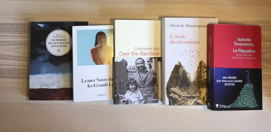 Le jury a sélectionné les 5 romans finalistes du Prix Orange du Livre 2021