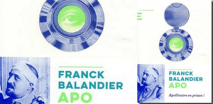 APO de Franck Balandier, un roman qui nous entraine dans les pas d'Apollinaire jusqu'à la Santé