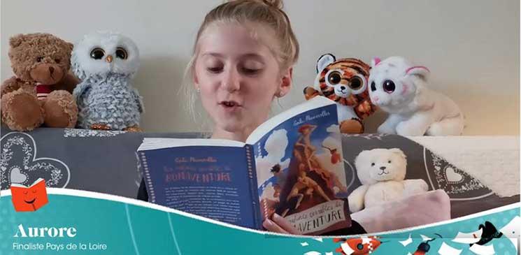 Elle s'appelle Aurore, nous vient des Pays de la Loire et c'est la Petite championne de la lecture 2020 !