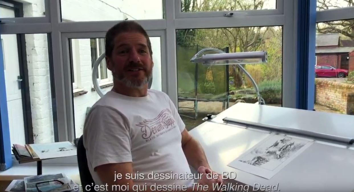 Découvrez une vidéo dans l'atelier de Charlie Adlard, et gagnez le nouveau tome de Walking Dead !