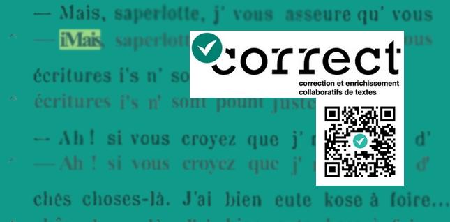 Expérimentez la correction collaborative de documents de la BnF grâce à Correct !