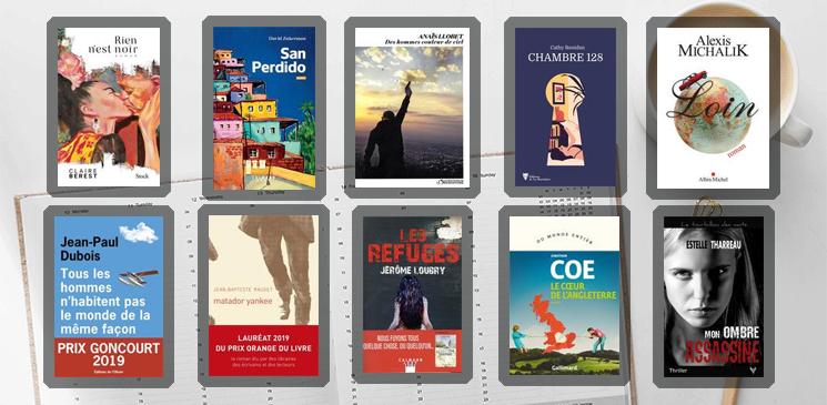 Les 10 livres coups de cœur des lecteurs - Année 2019