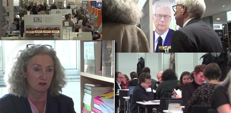 Nous avons suivi Maggie Doyle, directrice des littératures étrangères chez Robert Laffont, à la foire internationale de Francfort