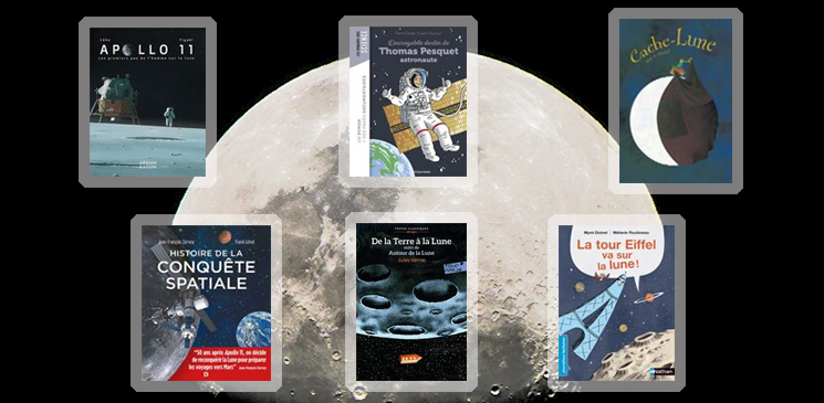 La Lune et la conquête spatiale en 6 livres jeunesse incontournables
