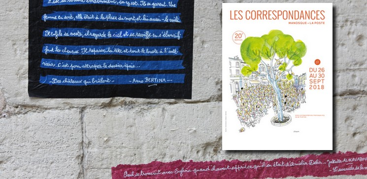 Les Correspondances 2018 pour vivre au rythme de la littérature à Manosque