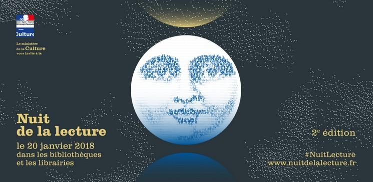 La Nuit de la lecture le 20 janvier 2018 dans les bibliothèques et les librairies