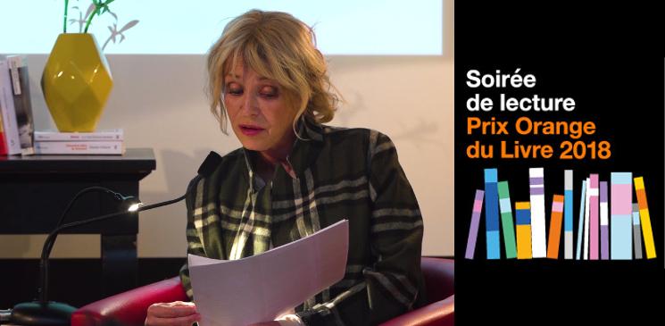 Découvrez en images la soirée de lecture des finalistes du Prix Orange du Livre 2018