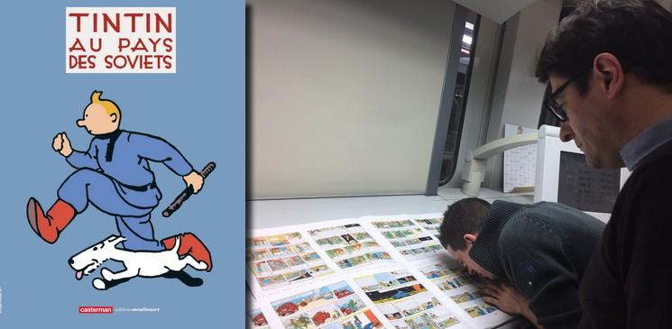 Quel est le secret pour tirer 28 000 cahiers de BD de Tintin à l'heure ?