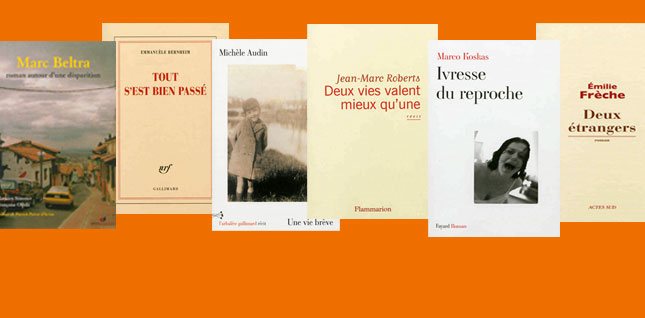 Les 6 finalistes retenus pour le Prix Orange du Livre