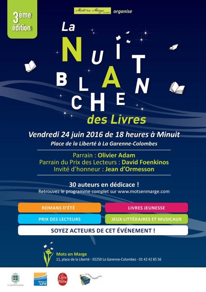"""""""La Nuit Blanche des Livres"""" avec Nathalie Iris de la Librairie Mots en Marge à La Garenne Colombes"""