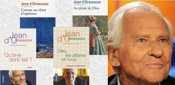 Jean d'Ormesson en 4 livres