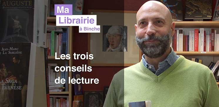 Ma librairie à Binche (Belgique) – Trois conseils de lecture à gagner !