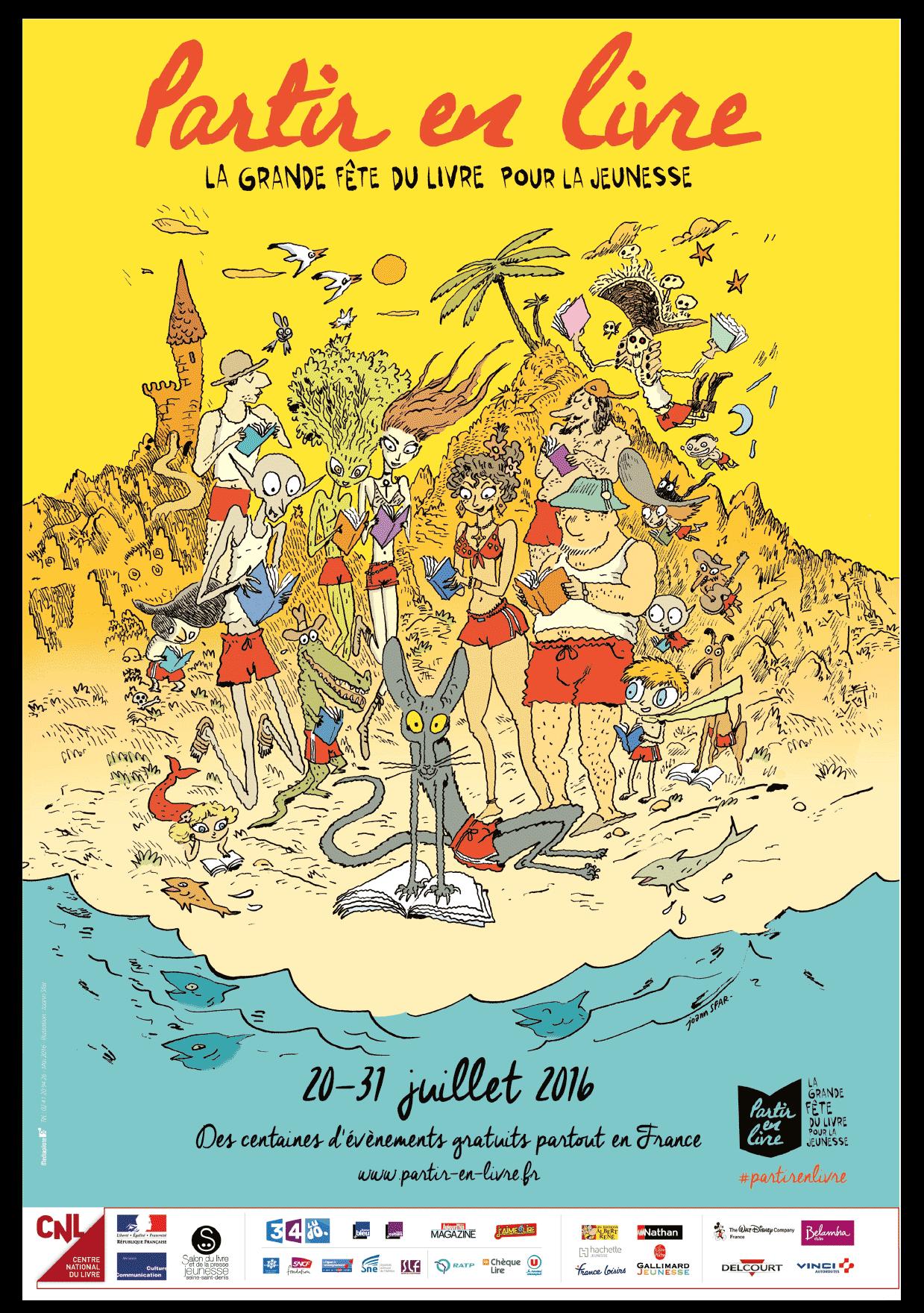 « Partir en livre » c'est du 20 au 31 juillet 2016 et partout en France !