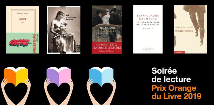 Ecoutez gratuitement les lectures des 5 romans finalistes du Prix Orange du Livre 2019 !