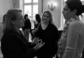 Claire, Sandy et Charlotte du jury du Prix Orange du Livre 2015