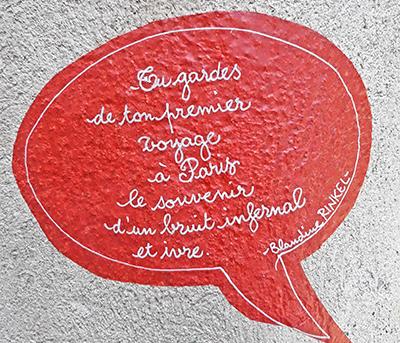 Citation de Blandine Rinkel, sur les murs de Manosque