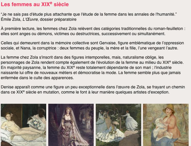 Au Bonheur des Dames, l'édition enrichie - Les femmes au XIXème siècle