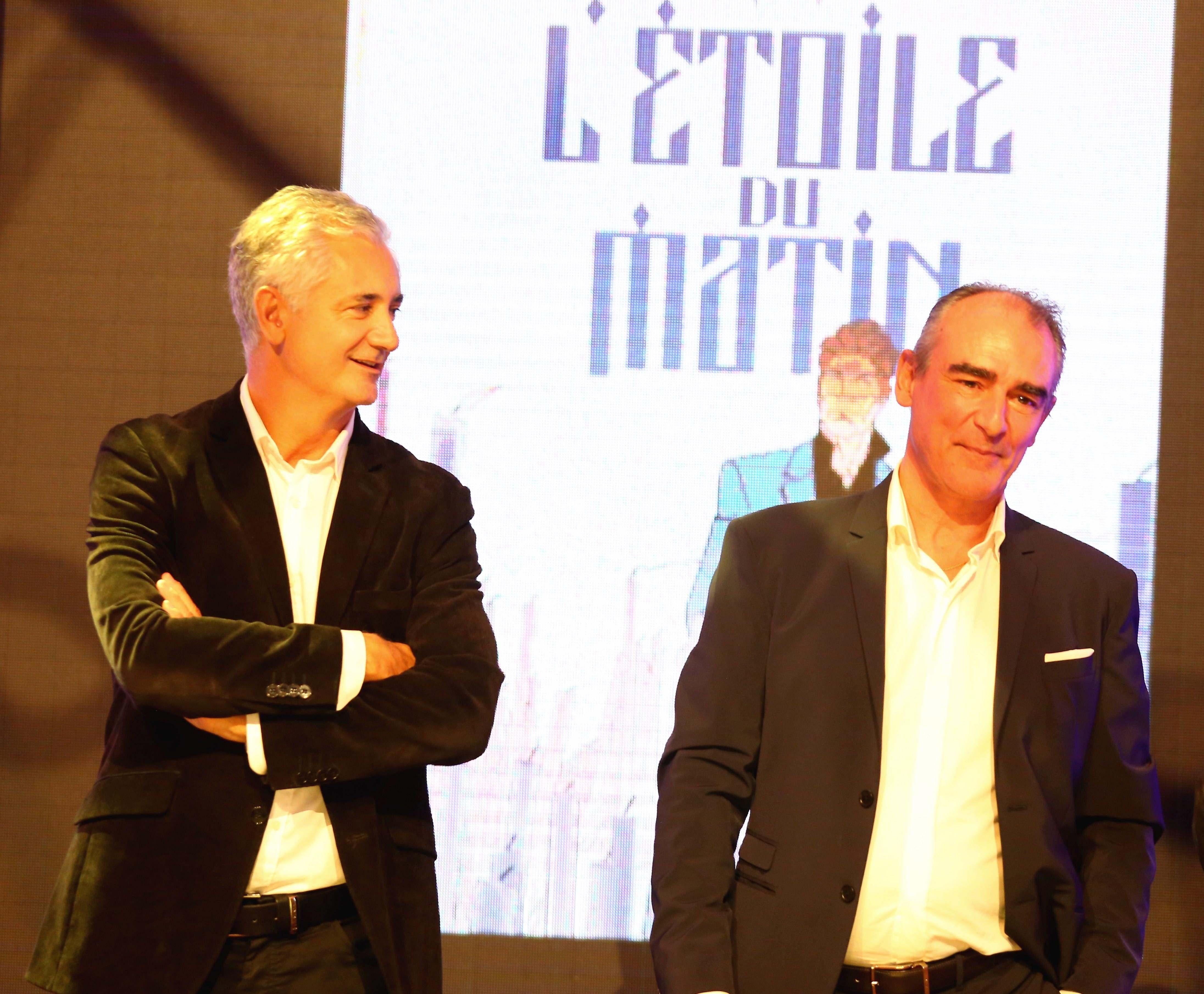 Eric Giacometti et Philippe Francq à la soirée de lancement