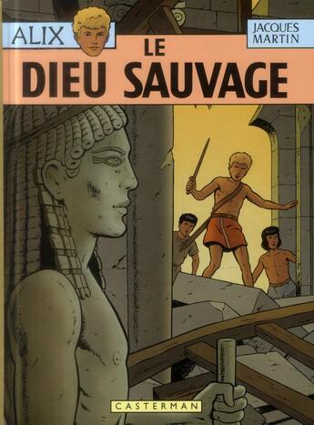 Couverture du livre « Alix T.9 ; le dieu sauvage » de Jacques Martin aux éditions Casterman