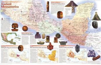 Couverture du livre « **Mesoamerica R/V89 Cm X 56 Cm » de Collectif aux éditions National Geographic Us
