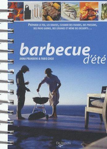Couverture du livre « Barbecue d'été » de Anna Prandoni aux éditions De Vecchi