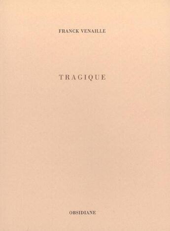 Couverture du livre « Apocalypse / Trad. Dimitri Analis » de Jean aux éditions Obsidiane