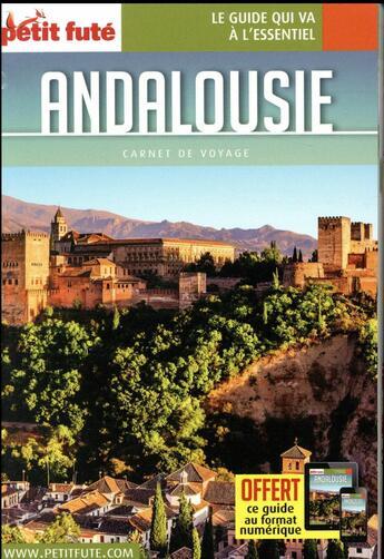 Couverture du livre « Guide Petit Fute ; Carnets De Voyage ; Andalousie » de Collectif Petit Fute aux éditions Le Petit Fute