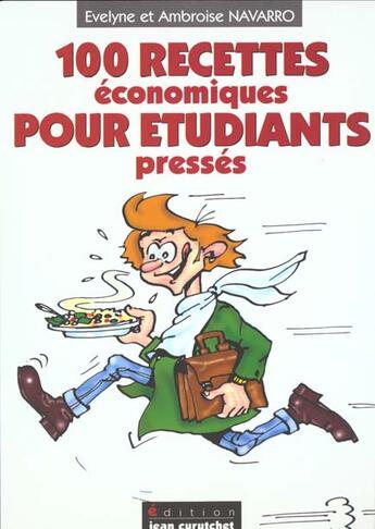Couverture du livre « 100 Recettes Economiques Pour Etudiants Presses » de Navarro Ambroise / N aux éditions Harriet