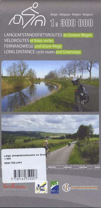 Couverture du livre « ** Lange Afstands Fietsroutes » de  aux éditions Ign Belge