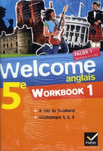 Couverture du livre « Anglais ; 5ème ; workbook (édition 2012) » de Evelyne Ledru-Germain aux éditions Hatier