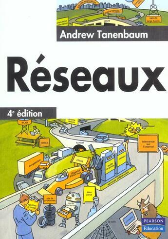 Couverture du livre « Les reseaux 4e edition » de Andrew Tanenbaum aux éditions Pearson