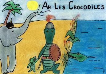 Couverture du livre « Ah! les crocodiles » de Florence Debonnieres aux éditions Mk67 - Mon Kamishibai