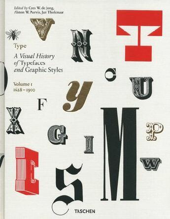 Couverture du livre « Type book t.1 ; a visual history of typefaces and graphic styles ; 1628/1900 » de Tholenaar Jan aux éditions Taschen