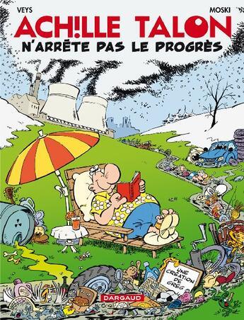 Couverture du livre « Achille Talon T.48 ; Achille Talon n'arrête pas le progrès » de Moski et Pierre Veys aux éditions Dargaud