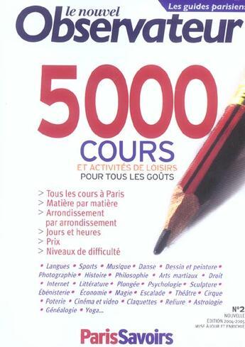 Couverture du livre « 5000 Cours Et Activites De Loisirs » de Clare Et Alii aux éditions Le Nouvel Observateur