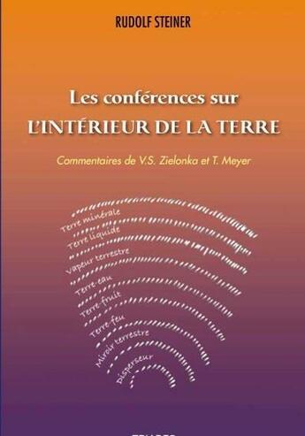 Couverture du livre « Conférences sur l'intérieur de la Terre » de Rudolf Steiner aux éditions Triades