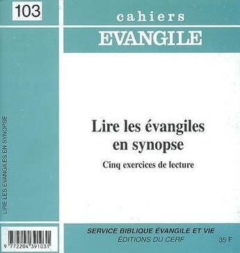 Couverture du livre « CAHIERS DE L'EVANGILE T.103 » de Pouilly J aux éditions Cerf