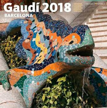 Couverture du livre « Calendrier 2018 gaudi (30x30) » de  aux éditions Triangle Postals