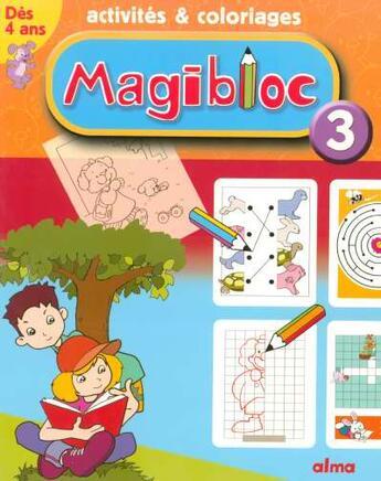 Couverture du livre « Activites Et Coloriages Magibloc N.3 » de Collectif aux éditions Larousse