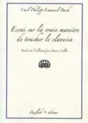 Couverture du livre « Essai sur la vraie manière de toucher le clavecin » de Johann Sebastian Bac aux éditions Robert Martin