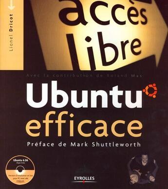 Couverture du livre « Ubuntu efficace » de Dricot L. aux éditions Eyrolles