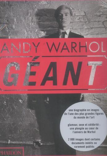 Couverture du livre « Andy Warhol Geant » de Dave Hickey aux éditions Phaidon