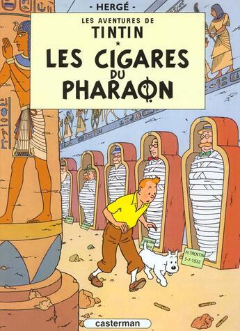 Couverture du livre « Les aventures de Tintin T.4 ; les cigares du pharaon » de Herge aux éditions Casterman