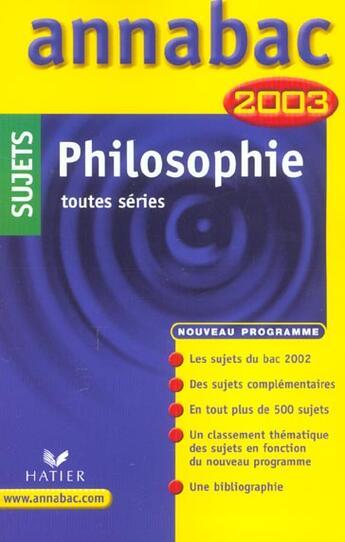 Couverture du livre « Annabac Sujets » de Collectif aux éditions Hatier
