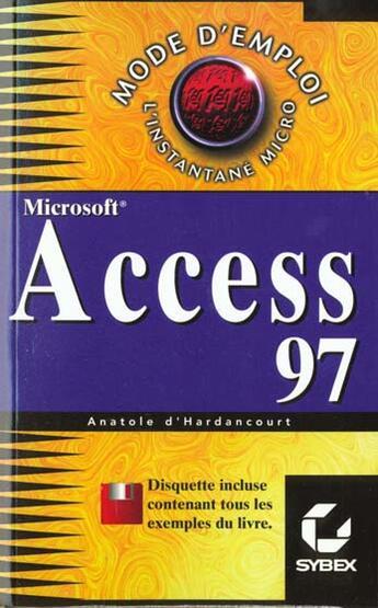 Couverture du livre « Access 97 » de Anatole D' Hardancourt aux éditions Eska