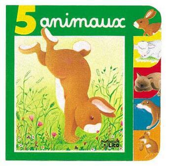 Couverture du livre « 5 Animaux ( Lapin ) » de Collectif aux éditions Lito