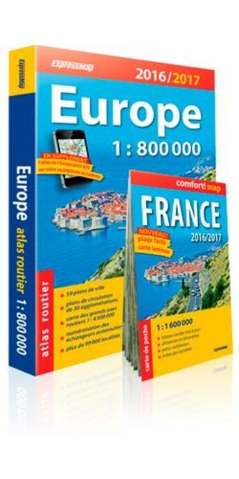 Couverture du livre « Atlas routier de l'Europe 2016 / 2017 » de Collectif aux éditions Expressmap