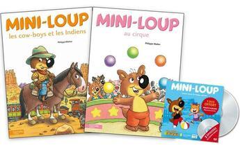Couverture du livre « Mini-Loup, les cow-boys et les Indiens ; Mini-Loup au cirque » de Philippe Matter aux éditions Hachette Enfants
