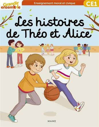Couverture du livre « Grandir ensemble cycle 2 - livre enfant ce1 » de  aux éditions Mame